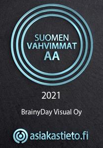BrainyDay on saanut Suomen Vahvimmat sertifikaatin